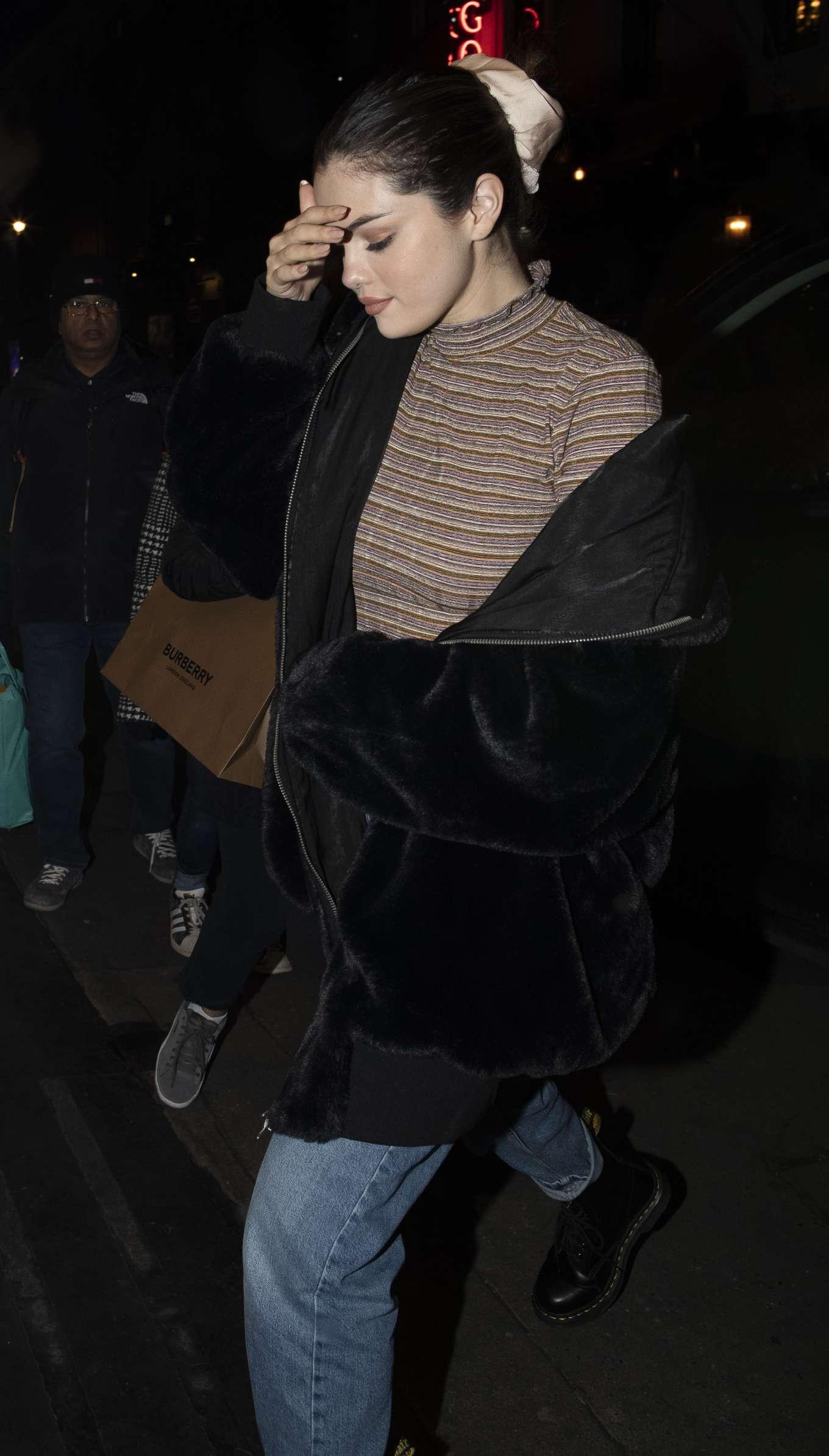 Selena Gomez 2019 : Selena Gomez – Out for dinner at Patara in Soho-01