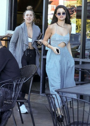 Selena Gomez in Blue Dress -22