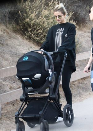 Selena Gomez - Out with a friend and her baby hiking in Los Angeles