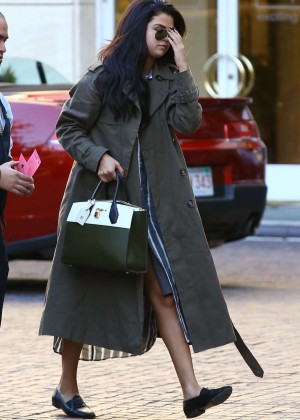 Selena Gomez outside the Peninsula Hotel in Beverly Hills