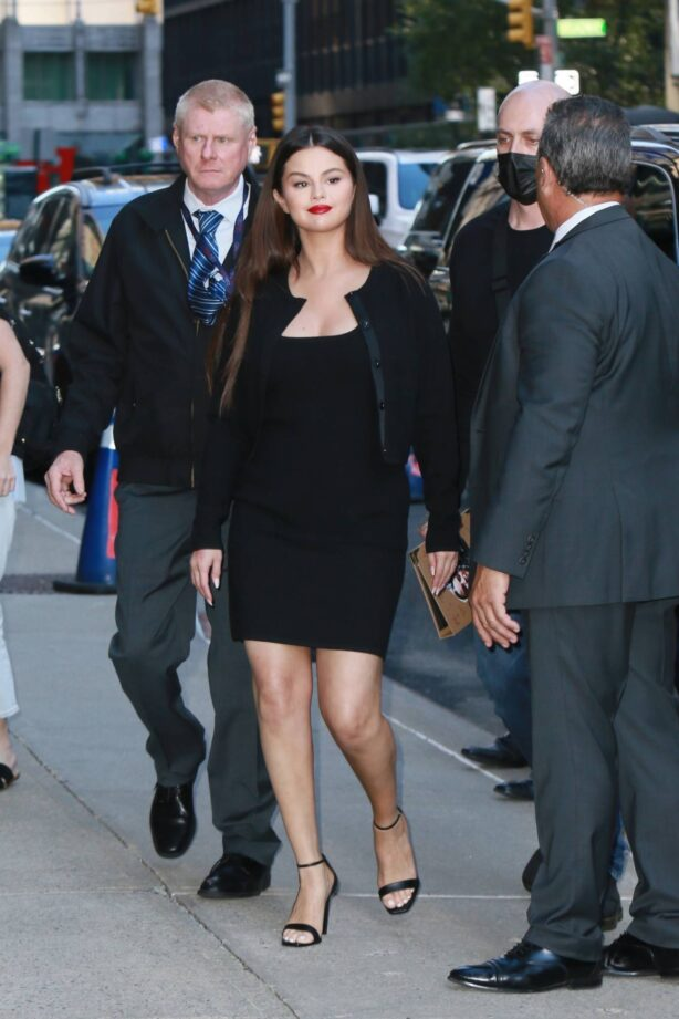 Selena Gomez - Pictured outside the tonight show with Stephen Colbert in New York