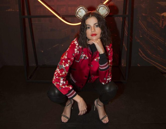 Selena Gomez - Pudsey Bear Ears for Children in Need Campaign 2017