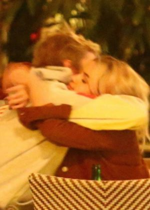 Selena Gomez - Sharing a tender hug with Justin Bieber in Beverly Hills