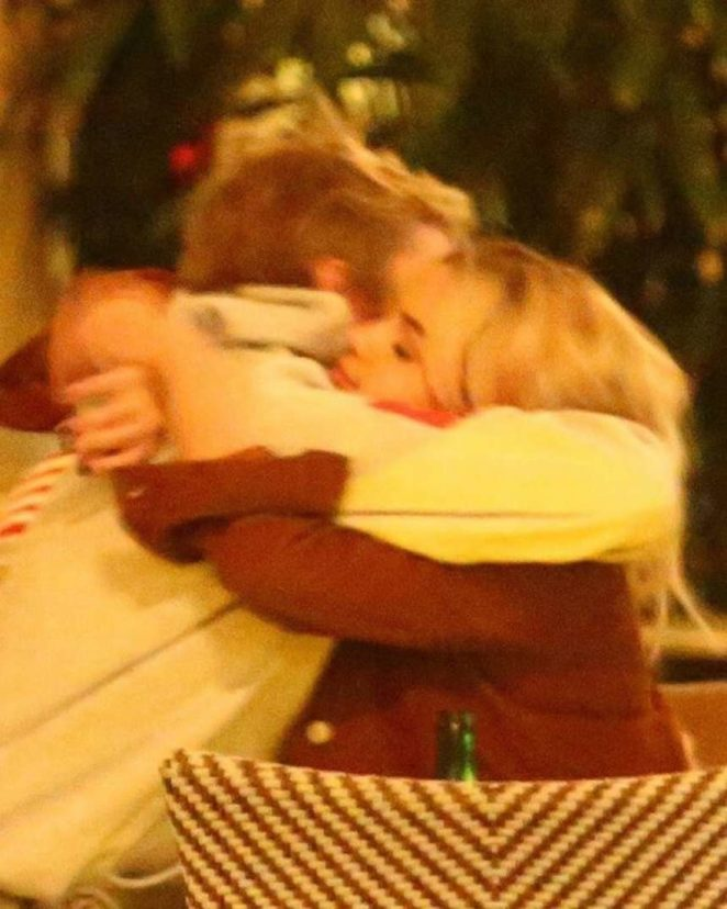 Selena Gomez – Sharing a tender hug with Justin Bieber in Beverly Hills