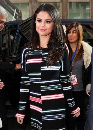 Selena Gomez - SiriusXM studios in New York City