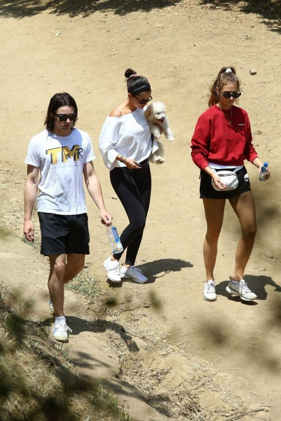Selena Gomez – Takes new puppy for a hike-28
