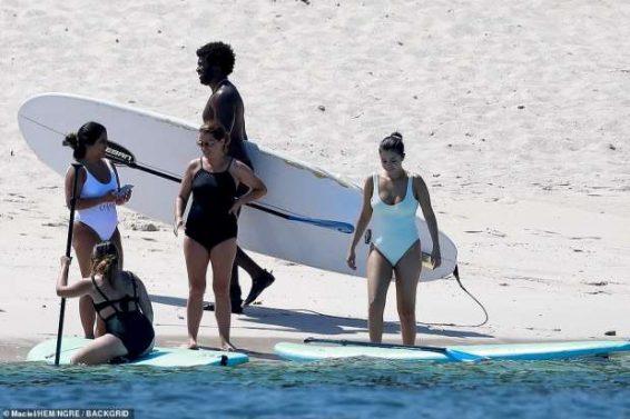 Selena Gomez – Wear White Swimsuit at a Beach in Punta Mita – Mexico-10