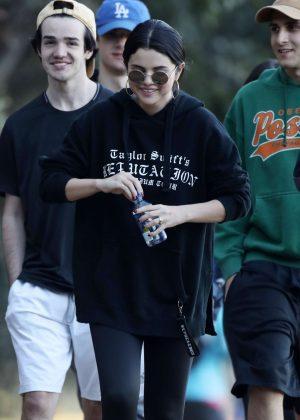 Selena Gomez with friends hiking in LA