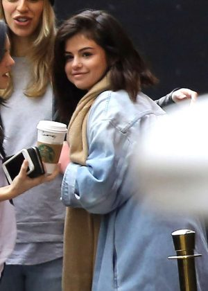Selena Gomez - With Friends Outside of Church in West Hollywood