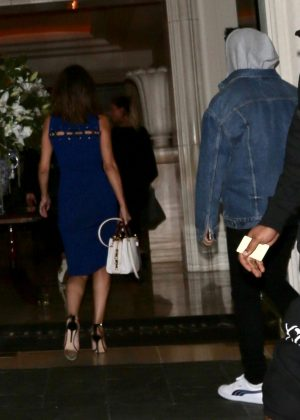 Selena Gomez with The Weeknd Heads back to a hotel in LA