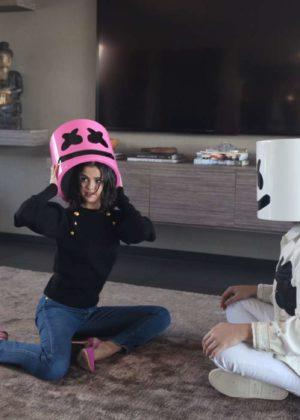 Selena Gomez x Marshmello Promotional Shoot For New Single 'Wolves' 2017