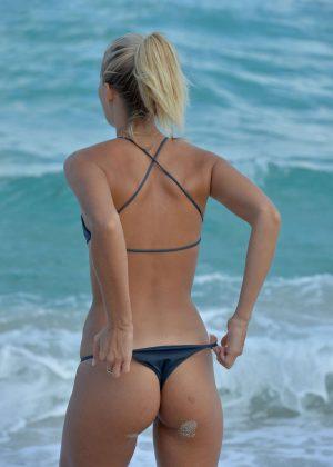 Selena Weber and Lauren Ashley in Bikini on Miami Beach