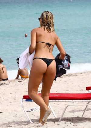 Selena Weber in Black Bikini in Miami