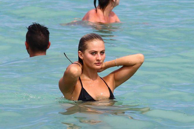 Selena Weber in Black Bikini 2017 -32