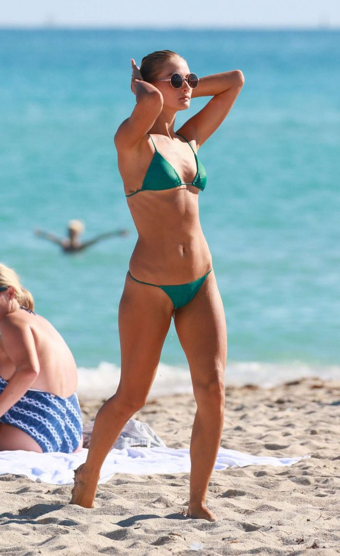 Selena Weber in Green Bikini 2016 -09