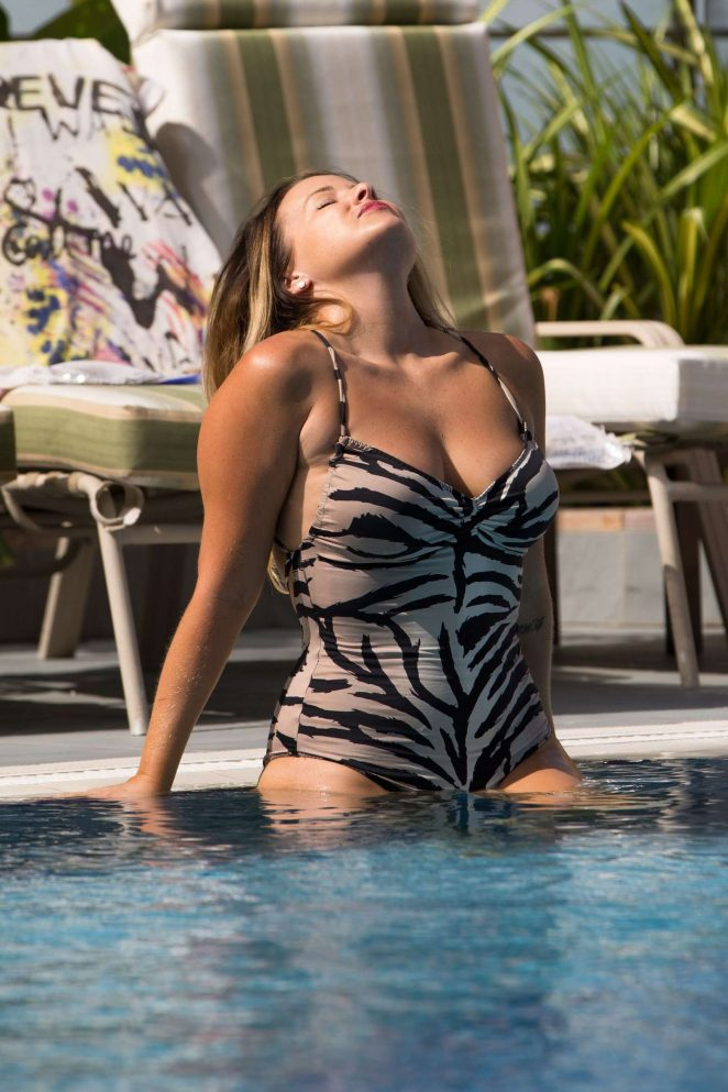Selina Waterman-Smith in Swimsuit in Dubai