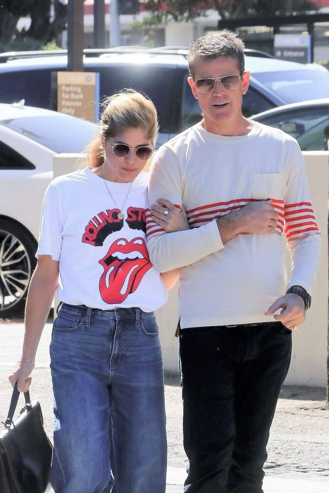 Selma Blair and boyfriend out in Studio City