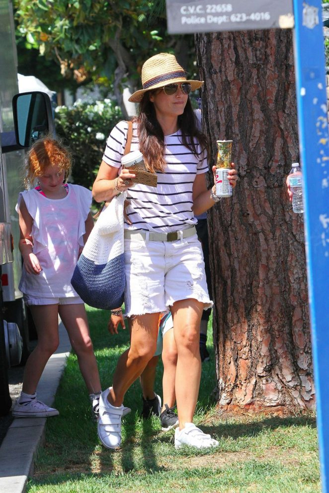 Selma Blair at Farmer's Market in LA