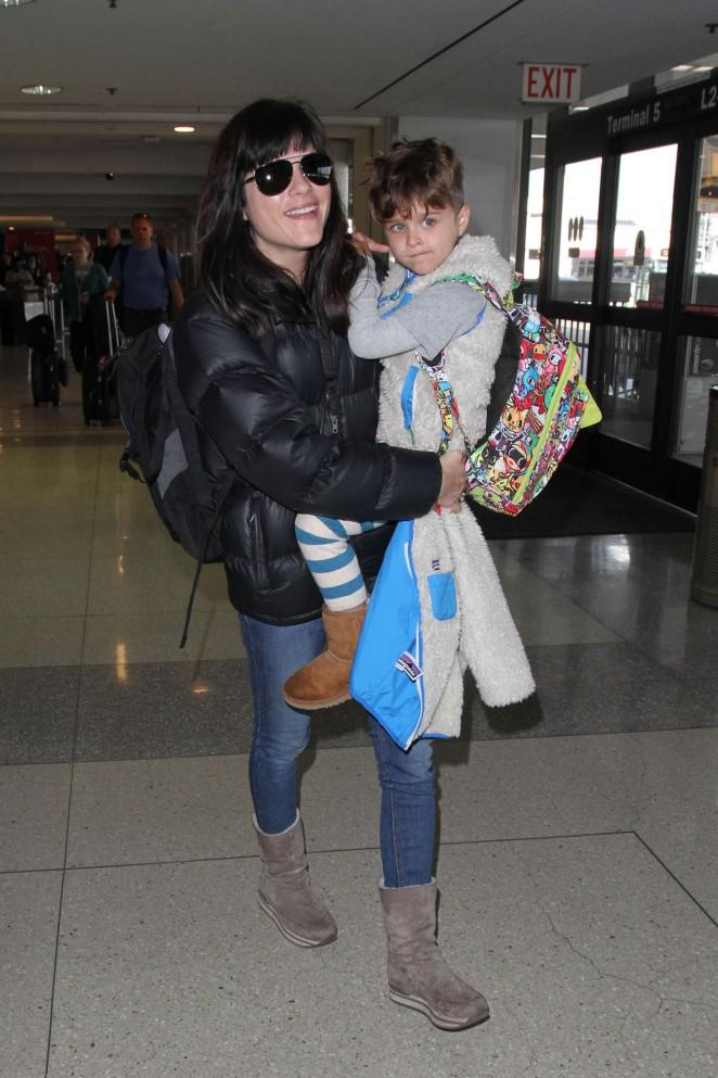 Selma Blair at LAX Airport in Los Angeles