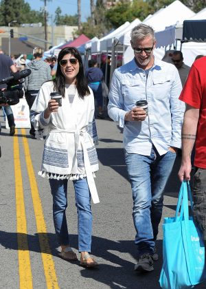 Selma Blair at the Farmer's Market in LA
