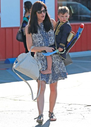Selma Blair in Mini Dress at Brentwood County Mart in Brentwood