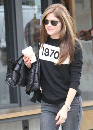 Selma Blair grabbing coffee in Studio City