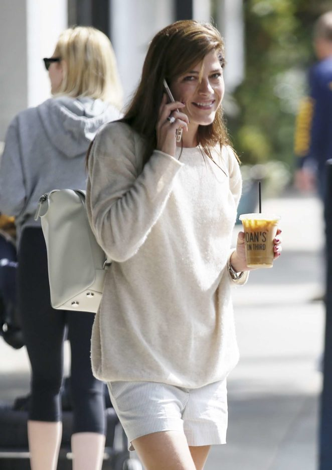 Selma Blair grabs a drink in Los Angeles