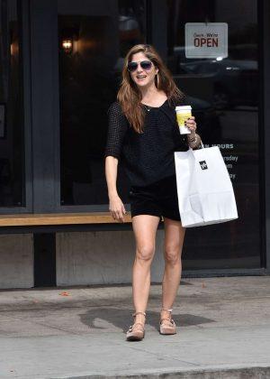 Selma Blair in Black Shorts - Shopping in Los Angeles