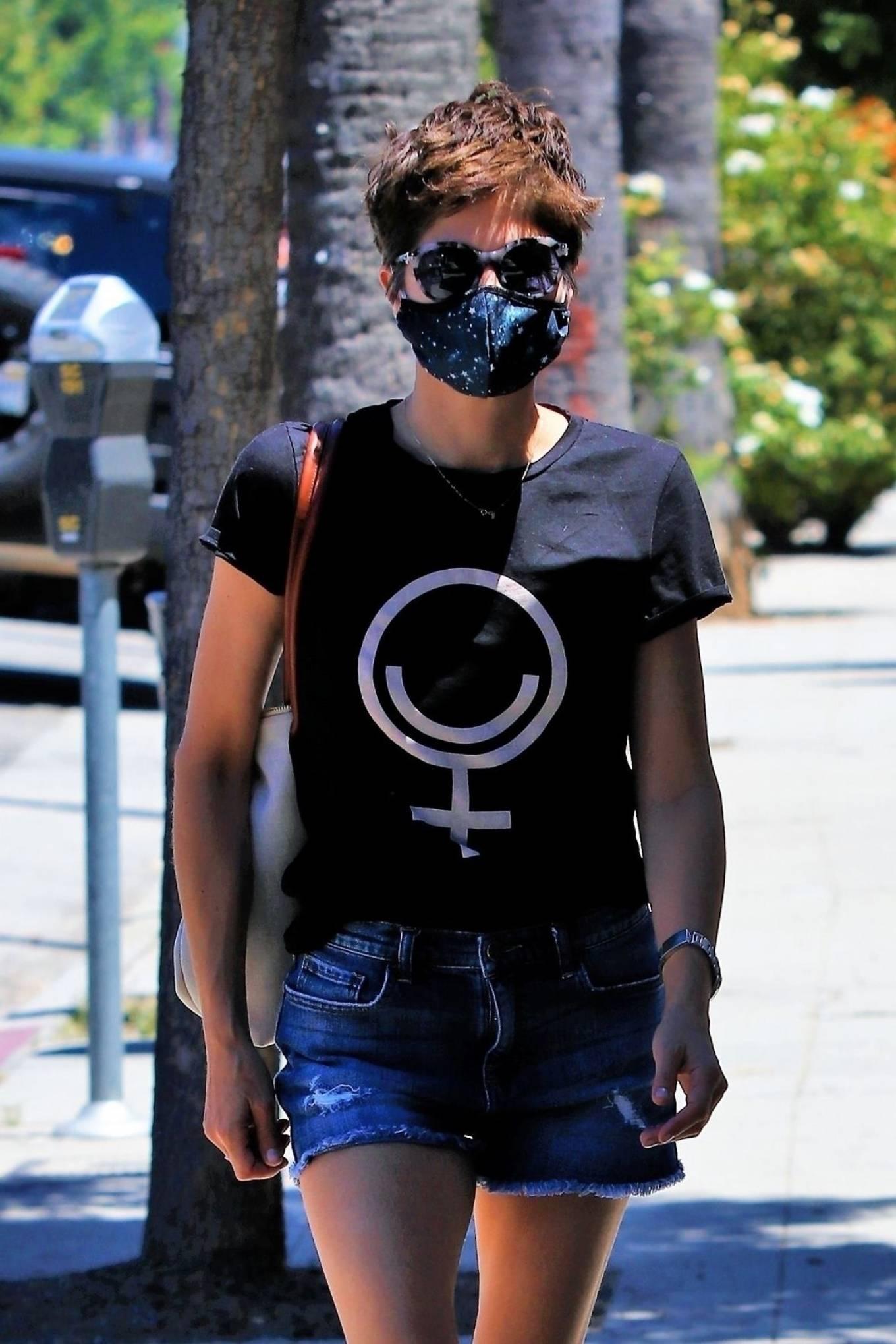 Selma Blair 2020 : Selma Blair – In denim shorts out in Studio City-03