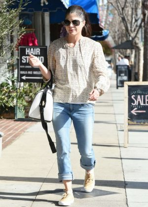 Selma Blair in Jeans Out in Los Angeles