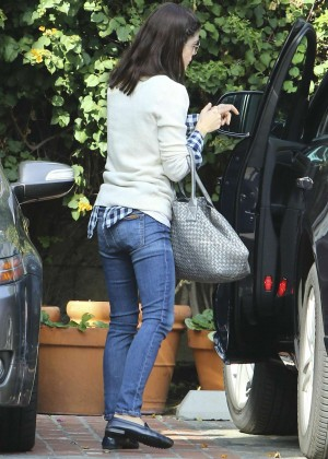 Selma Blair in Jeans Shopping in West Hollywood