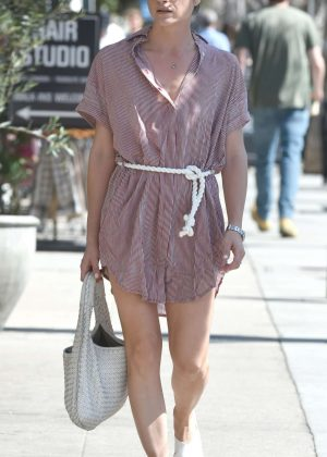 Selma Blair in Mini Dress out in Los Angeles