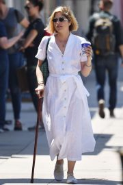 Selma Blair in White Dress - Out in Studio City
