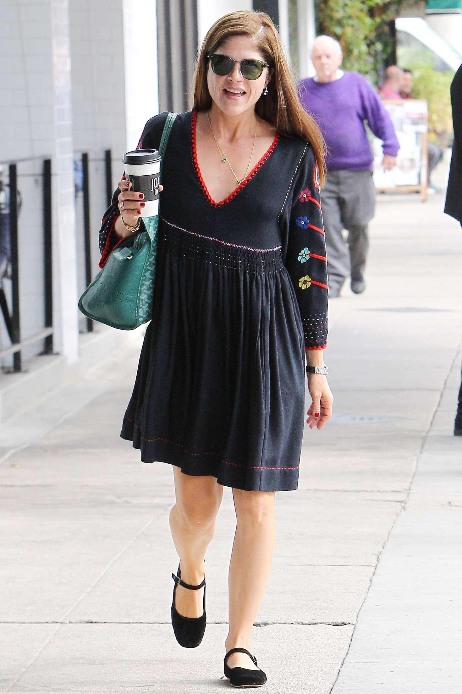 Selma Blair - Leaving Joan's on Third in Studio City