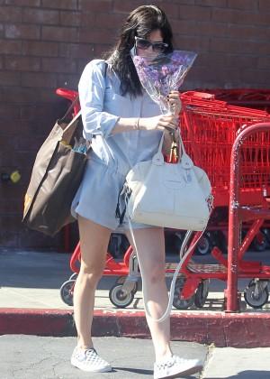 Selma Blair in Short Jumpsuit - Leaving Trader Joe's in LA