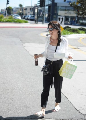 Selma Blair on Melrose Place in Los Angeles