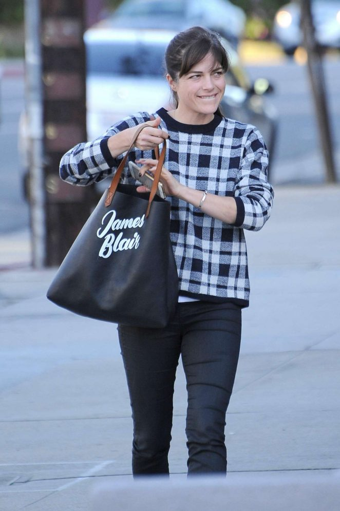 Selma Blair - Out and about in Studio City
