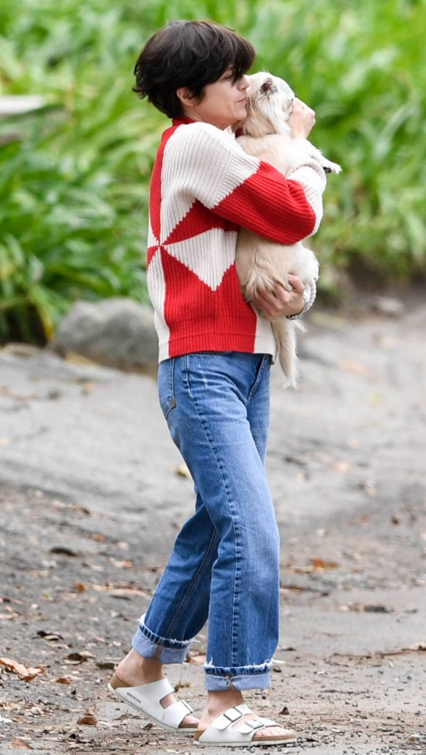 Selma Blair - Out with her dog around her neighborhood in Studio City