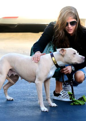 Selma Blair - Plays With Her Dog in Los Angeles