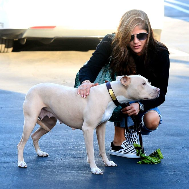 Selma Blair – Plays With Her Dog in Los Angeles