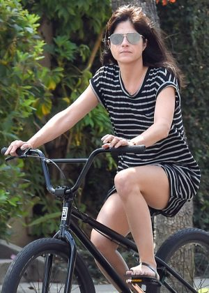 Selma Blair Riding a bike in Los Angeles