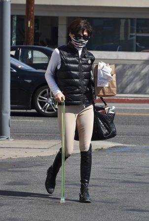 Selma Blair - Seen wearing her horse riding gear in Studio City