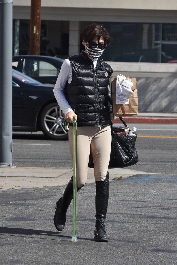 Selma Blair - Seen wearing her horse riding gear in Studio City