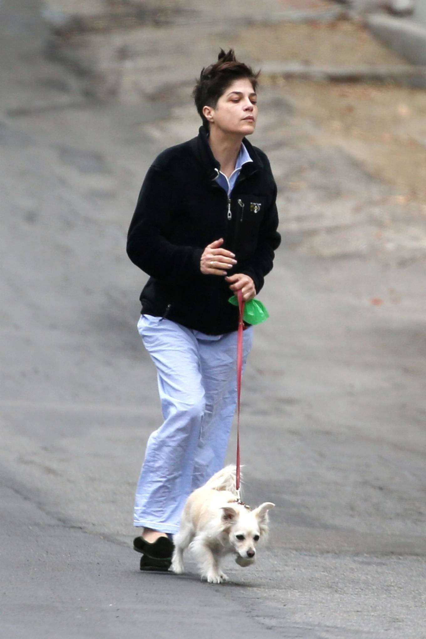Selma Blair - Seen with her dog at Beverly Hills Park