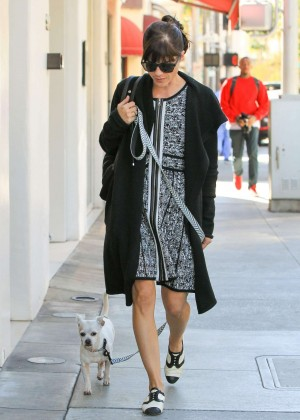 Selma Blair - Walking her dog in Beverly Hills