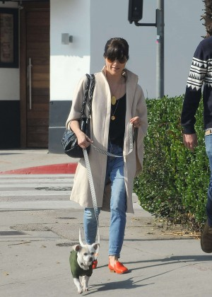 Selma Blair - Walking her dog in Los Angels