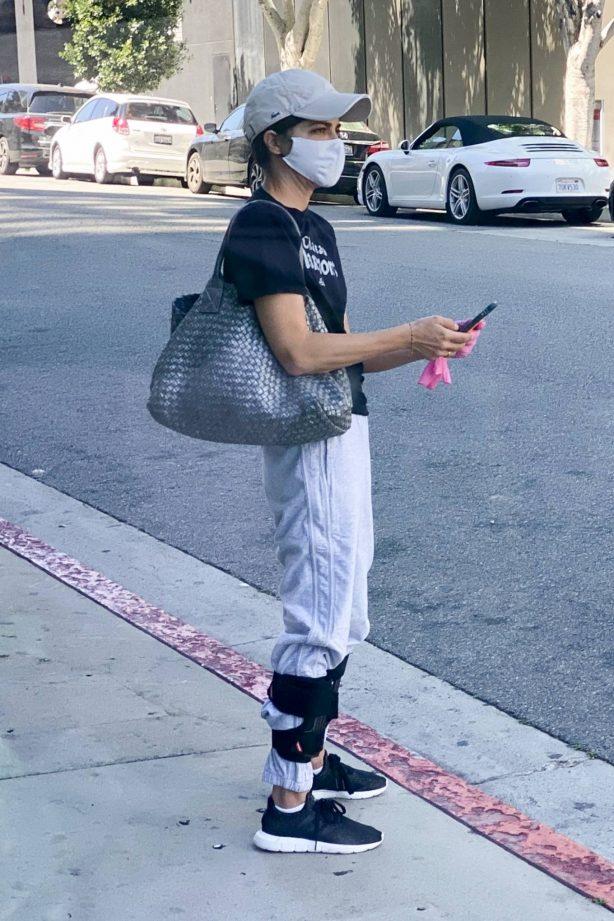 Selma Blair - Wears leg braces as she leaves a medical building in Los Angeles