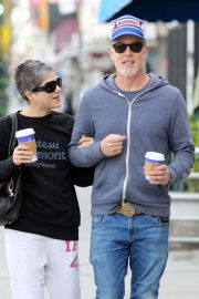 Selma Blair with boyfriend David Lyons - Out for a coffee in LA