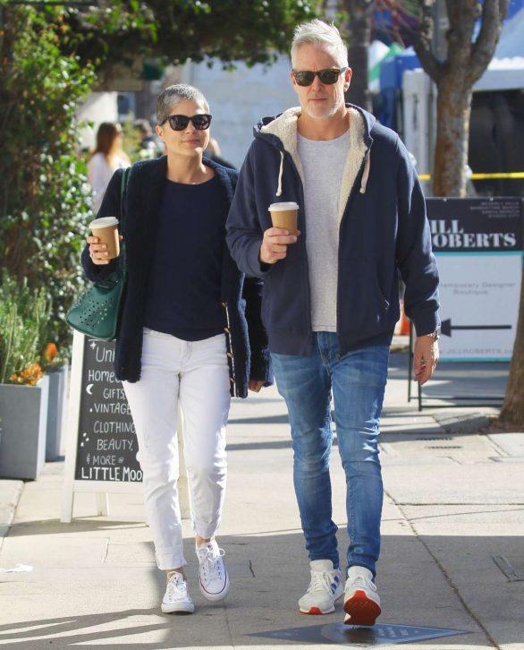 Selma Blair with boyfriend David Lyons out in Studio City