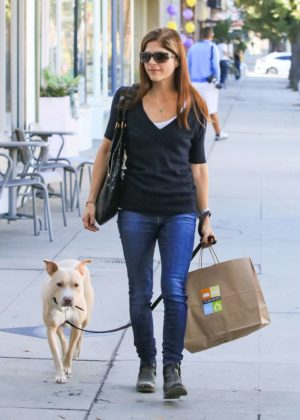 Selma Blair with her dog in Los Angeles